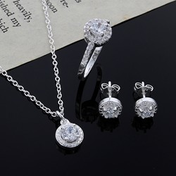 New Christmas gift noble silver fashion elegant women classic shiny crystal