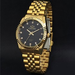 watch full gold Stainless Steel Quartz
